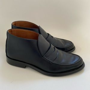 Alumnae Black Leather Loafers 38